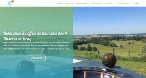 Nouveau site internet pour l'office de tourisme des 4 Rivières en Bray !