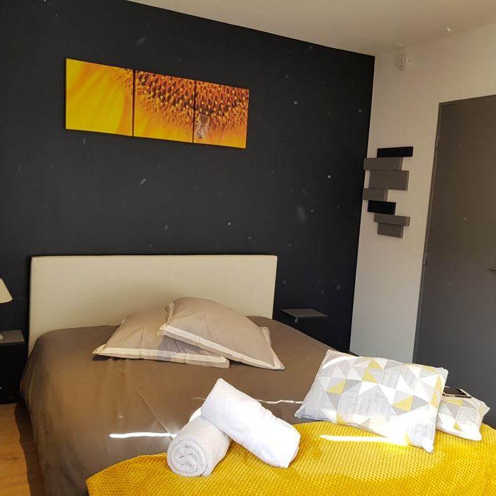 Au détour de Gournay à Gournay-en-Bray vue chambre appart'hôtel