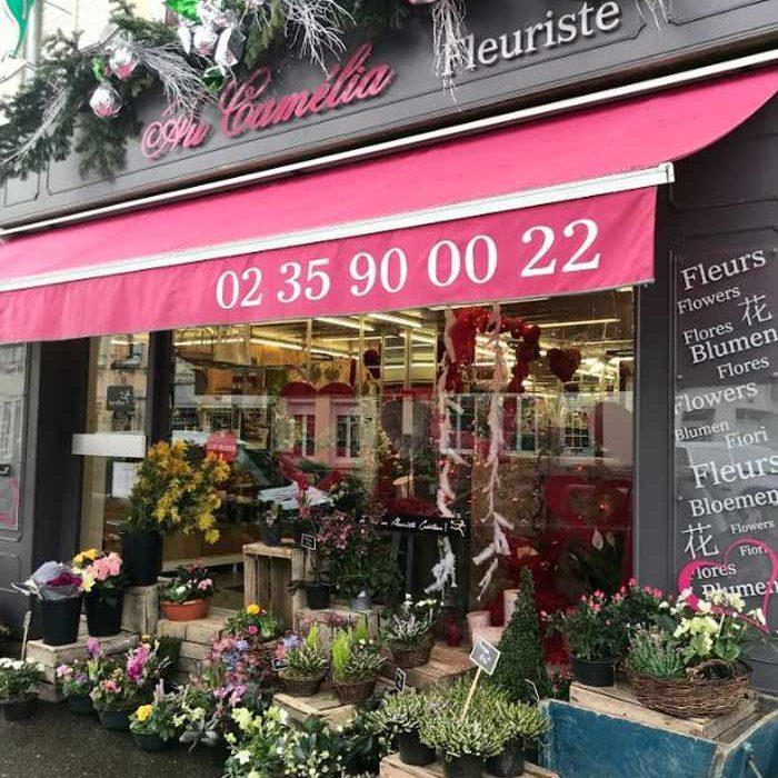 Devanture Au Camélia Fleuriste Gournay-en-Bray commercants pass avantages