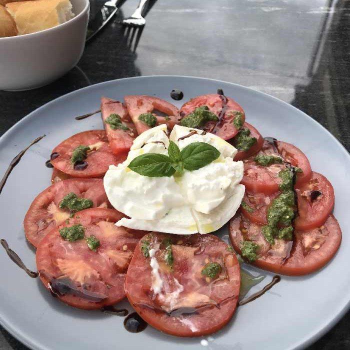 Carpaccio restaurant Café Vélo Jaune à Dampierre-en-Bray restauration rapide