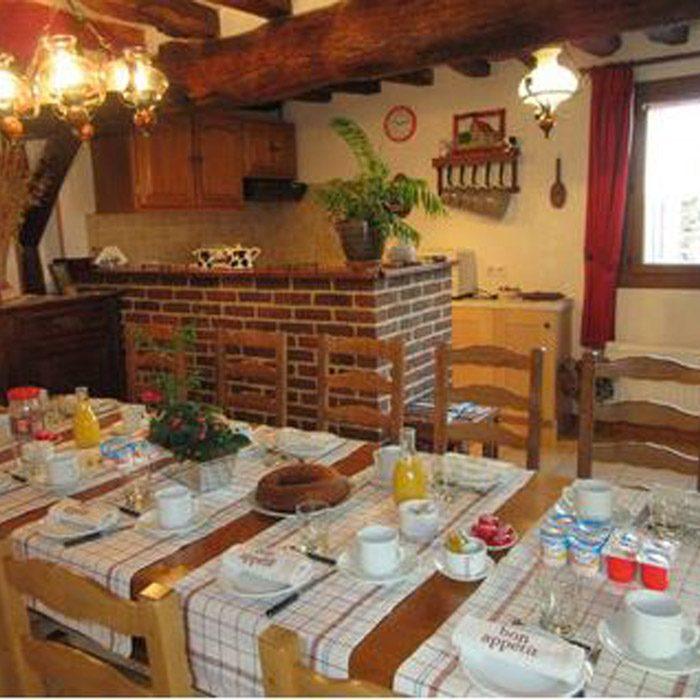Vue salle à manger Ferme des Simons à Martagny chambre d'hôtes