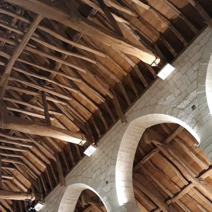 Toiture intérieure Maladerie Saint-Lazarre à Beauvais Culture et Patrimoine