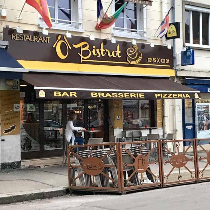 Devanture Ô Bistrot Brasserie Gournay-en-Bray commercants pass avantages