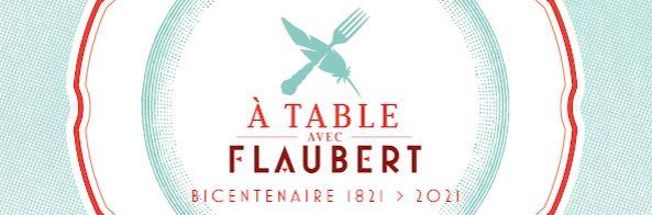 """Bandeau de l'opération """"A Table avec Flaubert"""""""