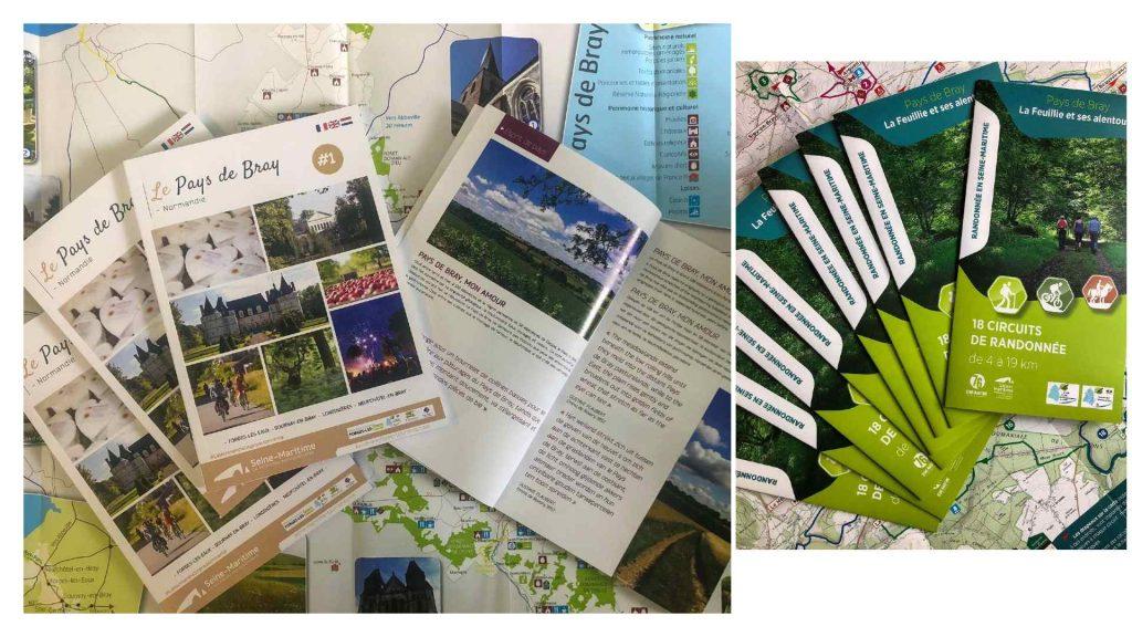 Nouvelles brochures disponibles à l'office de tourisme des 4 Rivières en Bray à Gournay-en-Bray et à La Feuillie